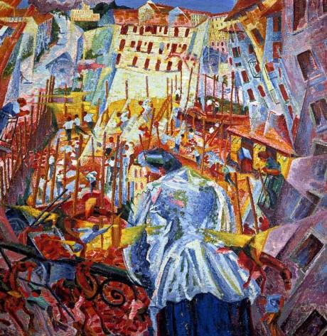 La strada entra nella casa - Boccioni 1911
